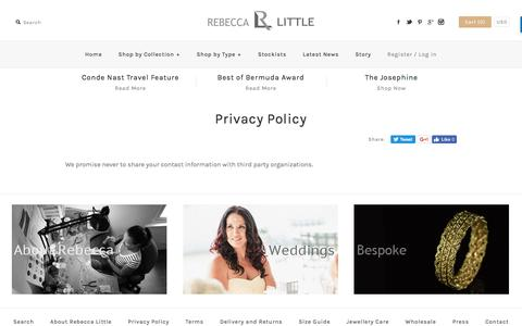 Screenshot of Privacy Page rebeccalittlejewellery.com - Privacy Policy – rebecca little jewellery - captured Dec. 9, 2016