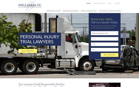 Screenshot of Home Page daxgarzalaw.com - Home – Dax Garza - captured Oct. 7, 2018
