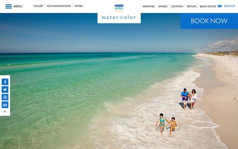 Screenshot of Home Page watercolorresort.com - Florida Gulf Coast Resorts | WaterColor Inn & Resort | 30A - captured Oct. 3, 2018