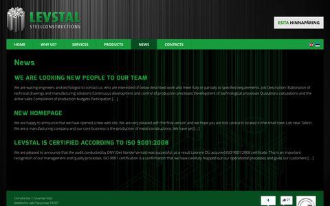 Screenshot of Press Page levstal.com - Levstal  » News - captured Oct. 28, 2014