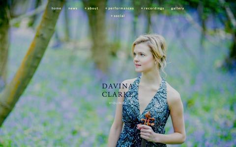 Screenshot of Home Page davinaclarke.com - Davina Clarke - captured Sept. 7, 2015