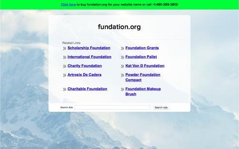 Screenshot of Home Page fundation.org - fundation.org - captured Nov. 11, 2017