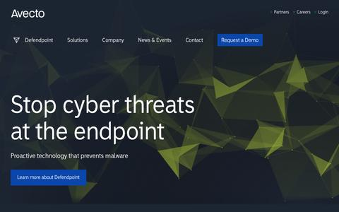 Screenshot of Home Page avecto.com - Avecto - Proactive endpoint security software - captured Nov. 12, 2016