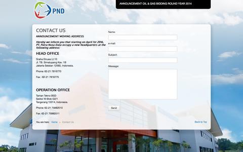 Screenshot of Contact Page patranusa.com - Contact Us - captured July 11, 2017