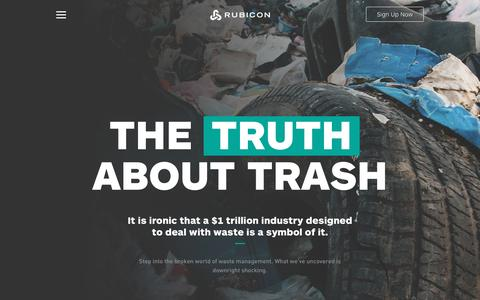 Commercial Garbage & Waste Management Company   Rubicon Global   Truth About Trash