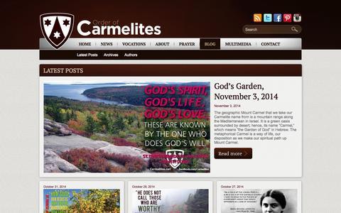 Screenshot of Blog carmelites.net - Blog | Order of Carmelites - captured Nov. 4, 2014