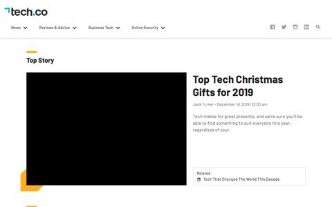 Screenshot of Home Page tech.co - Tech.co | Technology News, Reviews and Advice Guides - captured Dec. 12, 2019