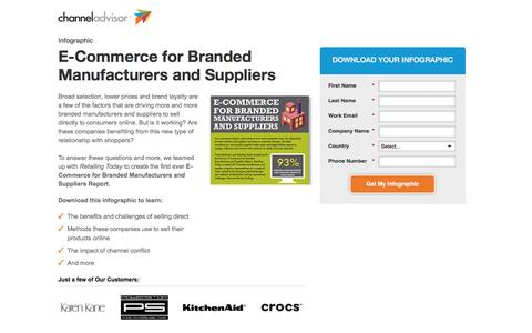 Screenshot of Landing Page channeladvisor.com - E-Commerce for Branded Manufacturers and Suppliers Infographic | ChannelAdvisor - captured May 6, 2016