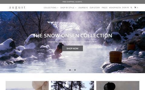 Screenshot of Home Page augustca.com - august - Luxury Handbags - captured Nov. 21, 2016
