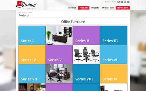 Screenshot of Products Page stellarglobal.com - Modular Office Furniture | Table |Chair | Stores | Indore | Mumbai | Delhi - captured Sept. 23, 2014