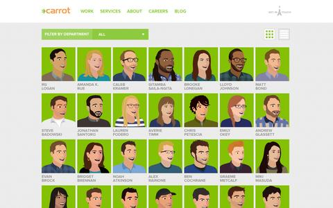 Screenshot of Team Page carrot.is - Carrot Creative - captured Sept. 24, 2014