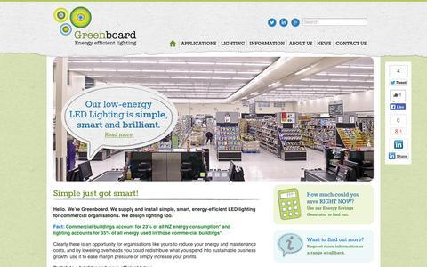 Screenshot of Home Page greenboardnz.com - Simple just got smart!   Greenboard NZ - captured Oct. 3, 2014
