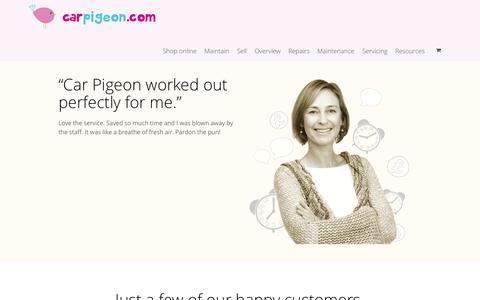 Screenshot of Testimonials Page carpigeon.com - See Our Magical Customer Testimonials - Sunshine Autos - captured Oct. 1, 2014