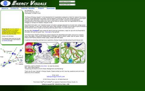 Screenshot of Home Page energyvisuals.com - Energy Visuals, Inc - captured March 3, 2016