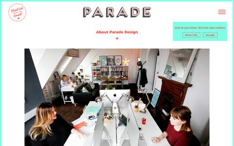 Screenshot of About Page paradedesign.co.uk - About Parade Design - captured Oct. 22, 2018