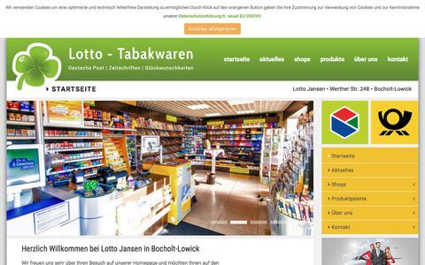 Screenshot of Home Page lotto-jansen.de - Lotto Jansen - Startseite - captured June 9, 2018