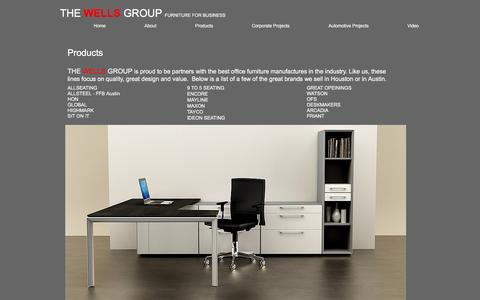 Screenshot of Products Page wellsgroup.com - wellsgroupnow | Products - captured April 16, 2017