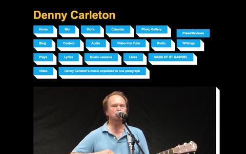 Screenshot of Press Page dennycarleton.com - Denny Carleton | singer songwriter,guitar teacher | Press/Reviews - captured June 5, 2016