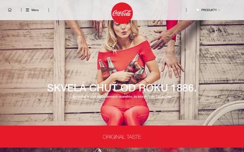Screenshot of Products Page coca-cola.sk - PRODUKTY_COCA-COLA - captured Feb. 16, 2018