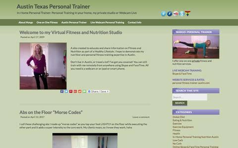 Screenshot of Blog personal-fitness-trainer-austin.com - Personal Trainers Austin Texas Westlake Lakeway TX - captured April 15, 2017