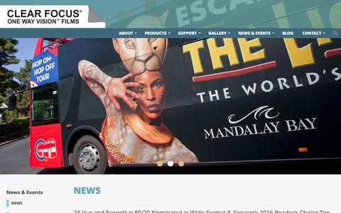 Screenshot of Press Page clearfocus.com - News - News & Events - Clear Focus Imaging - captured Jan. 29, 2016
