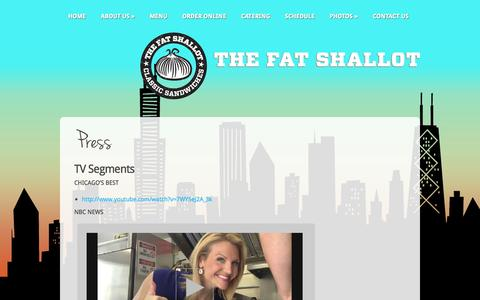 Screenshot of Press Page thefatshallot.com - Press | The Fat Shallot - captured Oct. 9, 2014