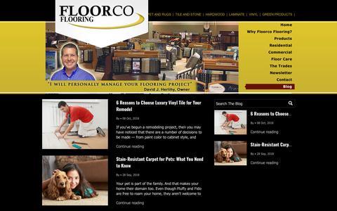 Screenshot of Blog floorcoflooring.com - Blog - captured Oct. 21, 2018