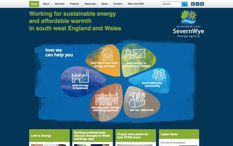Screenshot of Home Page severnwye.org.uk - Severn Wye Energy Agency - captured Oct. 7, 2014