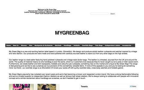 Screenshot of About Page mygreenbag.co.uk - My Green Bag - captured July 16, 2015
