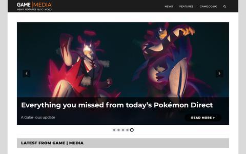 Screenshot of Press Page game.co.uk - Home - GAME | Media - captured Jan. 14, 2020