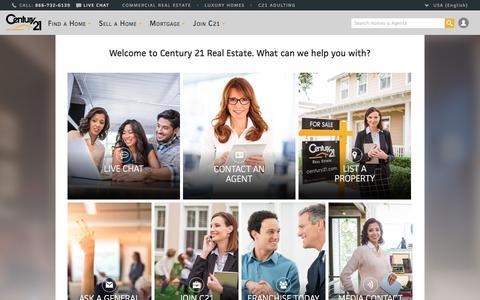 Screenshot of Contact Page century21.com - Contact CENTURY 21 Real Estate | CENTURY 21 - captured Oct. 16, 2017