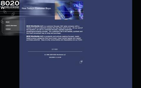 Screenshot of Home Page 8020worldwide.com - 8020 Worldwide LLC - captured Oct. 7, 2014
