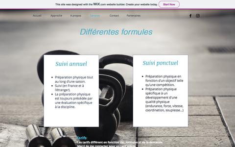 Screenshot of Services Page wixsite.com - coretraining-fr | Services - captured July 22, 2018