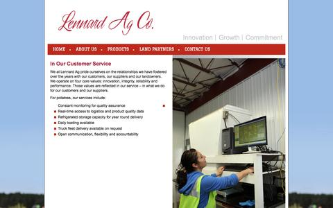 Screenshot of Support Page lennardag.com - Lennard AG | Innovation | Growth | Commitment - captured Oct. 2, 2014