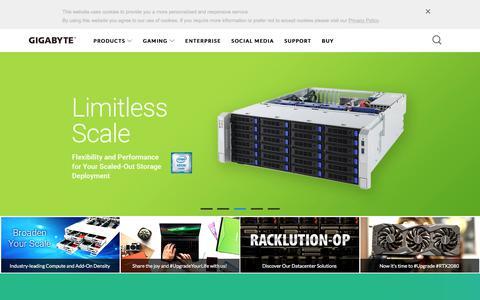 Screenshot of gigabyte.com - GIGABYTE India - captured Sept. 25, 2018