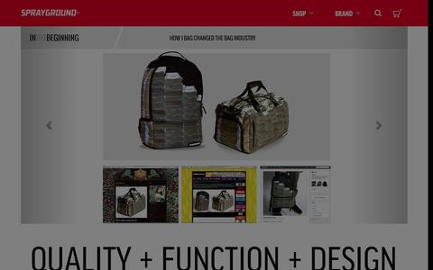 Screenshot of About Page sprayground.com - About | Sprayground Backpacks, Bags, and Accessories - captured Jan. 21, 2016