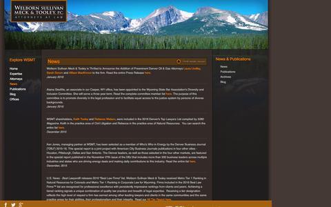 Screenshot of Press Page wsmtlaw.com - News - captured Feb. 18, 2016