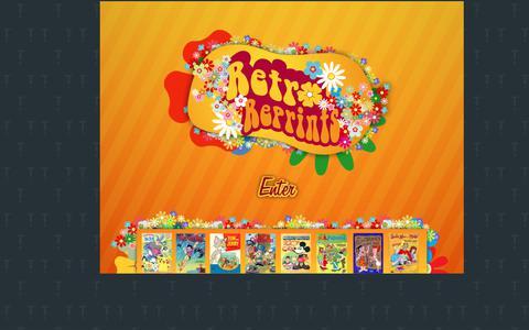 Screenshot of Home Page retroreprints.com - Retro Reprints - The internet's largest coloring book archive! - captured Feb. 4, 2018