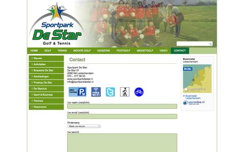 Screenshot of Contact Page sportparkdestar.nl - Contact | Sportpark De Star - captured Nov. 2, 2014
