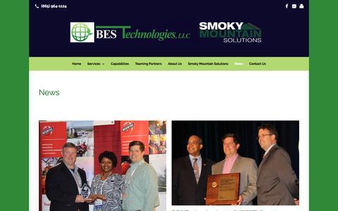 Screenshot of Press Page bestechtn.com - News: BES Technologies - captured Nov. 21, 2016
