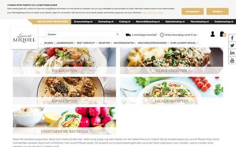 Screenshot of Menu Page laurentmiquelshop.nl - Recepten - captured Sept. 27, 2018