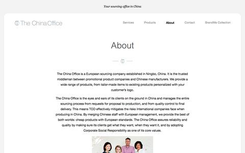 Screenshot of About Page the-china-office.com - About    The China Office - captured June 14, 2017