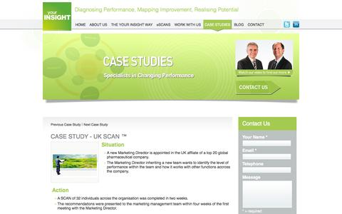 Screenshot of Case Studies Page your-insight.com - Your Insight :: Case Studies - captured Oct. 27, 2014