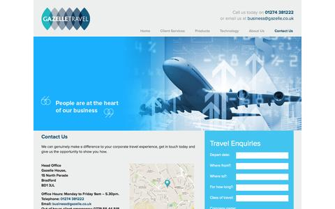 Screenshot of Contact Page gazelle.co.uk - Contact Us | Gazelle Travel - captured Oct. 2, 2014