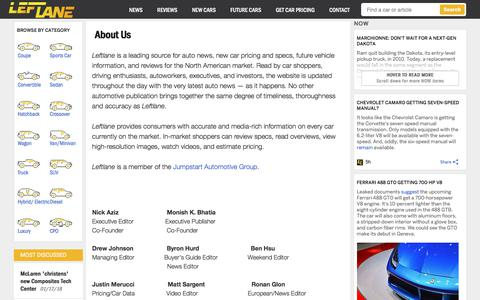 Screenshot of About Page leftlanenews.com - About - LeftLaneNews - captured Jan. 19, 2018