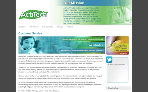 Screenshot of Support Page actitech.com - Customer Service | ActiTech - captured Oct. 4, 2014