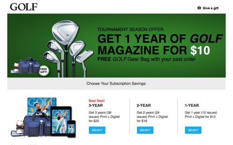 Screenshot of Landing Page golf.com - Golf - captured June 23, 2017