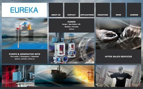 Screenshot of Home Page eureka.no - Eureka Web - captured Oct. 4, 2014