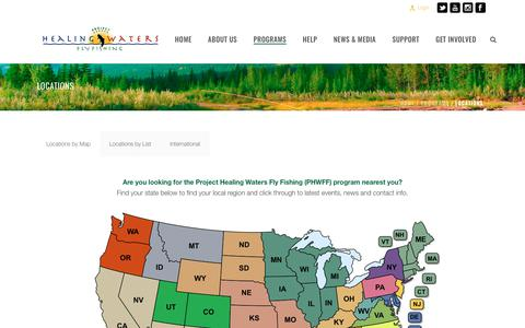 Screenshot of Locations Page projecthealingwaters.org - LOCATIONS – Project Healing Waters Fly Fishing - captured Aug. 29, 2017
