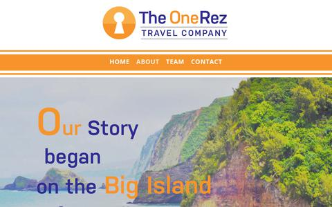 Screenshot of About Page onerez.com - About | The OneRez Travel Company - captured Nov. 13, 2017